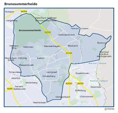 Kaart Brunssumerheide