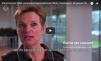 Persmoment DNA-onderzoek Nicky Verstappen 26 januari 2018