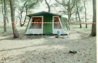 De tent van de Nightriders