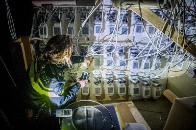 Ingenieuze stroominstallatie hennepkwekerij