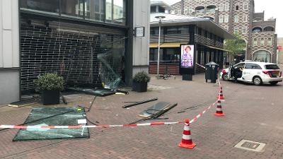 Zaterdag 5 juni grote schade na ramkraak winkelcentrum Vleuterweide.