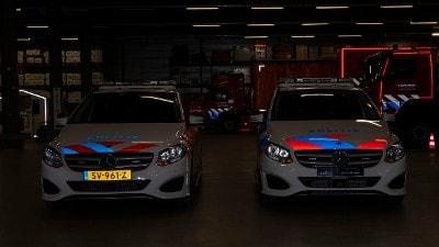 verschil tussen oude en nieuwe striping politievoertuigen
