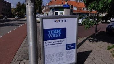 Delft - Passantenonderzoek na dodelijk steekincident