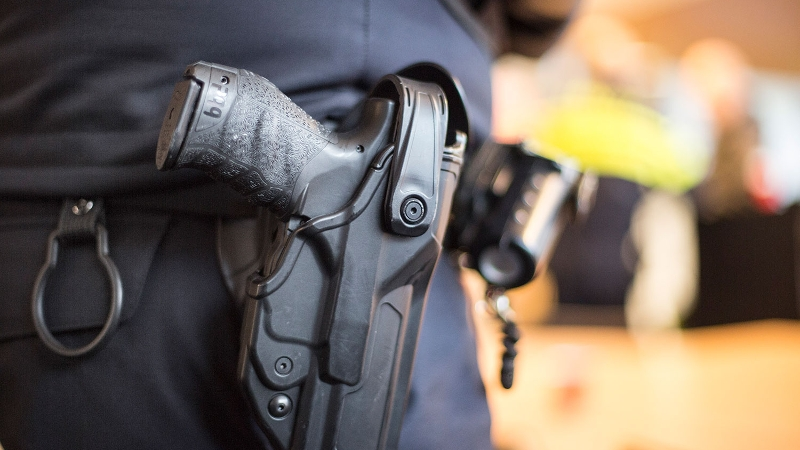 Dienstwapen in holster